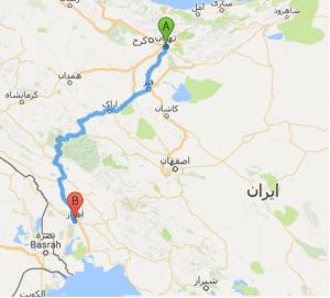 باربري از تهران به اهواز