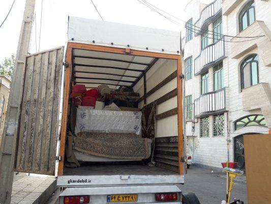 باربری و حمل اثاثیه منزل محدوده کاج