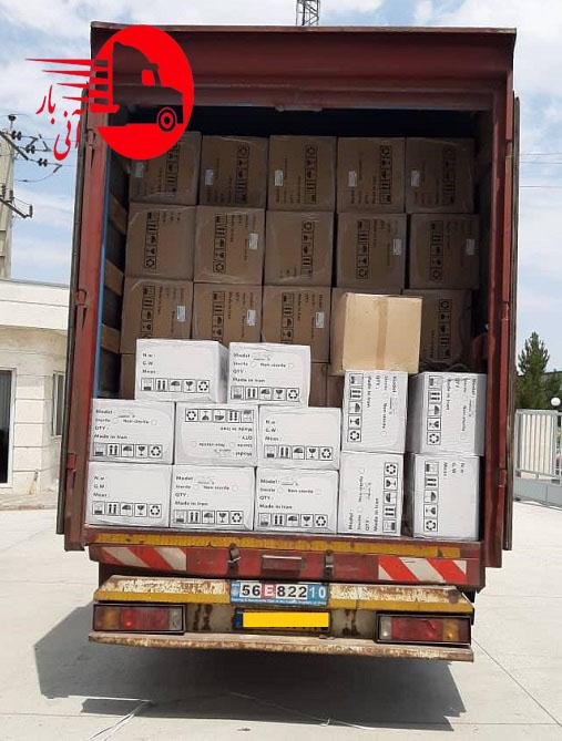 ارسال اثاث با کامیون مسقف