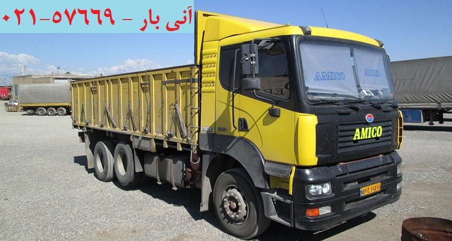 حمل بار با کامیون از تهران به کاشمر