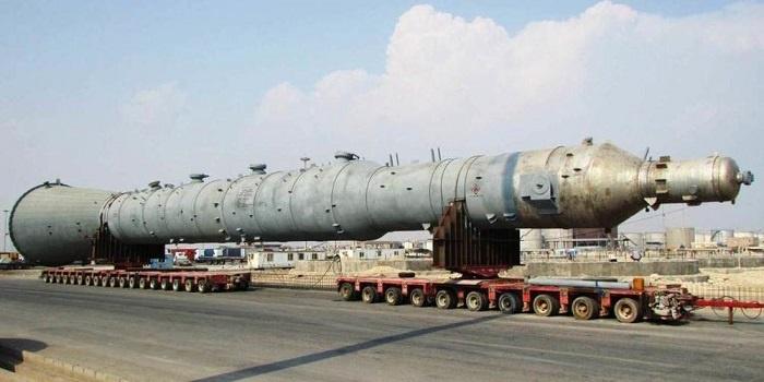 حمل قطعات نیروگاه با بوژی