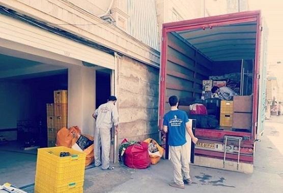 حمل اثاثیه با کامیونت مسقف از قلعه میر