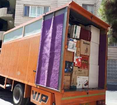 حمل اثاثیه به جاسک با کامیونت مسقف