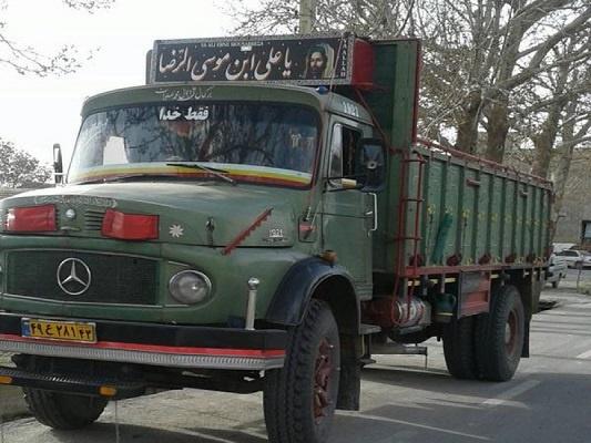 حمل بار با کامیون از تهران به اندیمشک