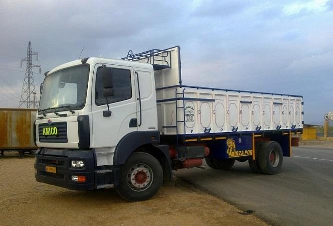 حمل بار با کامیون تک به فسا