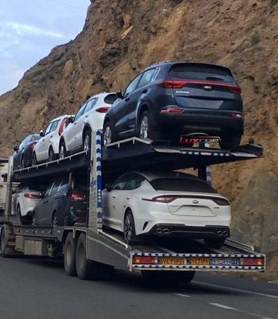 حمل خودرو با تریلی خودروبر از تهران به زنجان