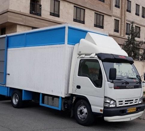 حمل اثاثیه با کامیونت مسقف