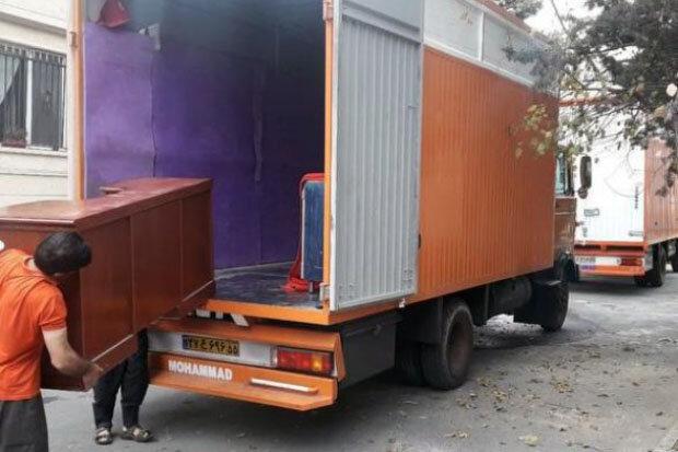 ارسال اثاث با کامیونت مسقف