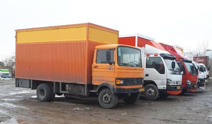 انواع کامیون باربری از سنندج