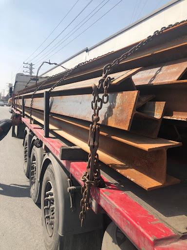 حمل تیر آهن با تریلی کفی به اردبیل