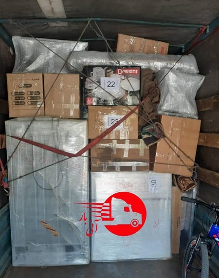 ارسال اثاثیه با کامیونت مسقف