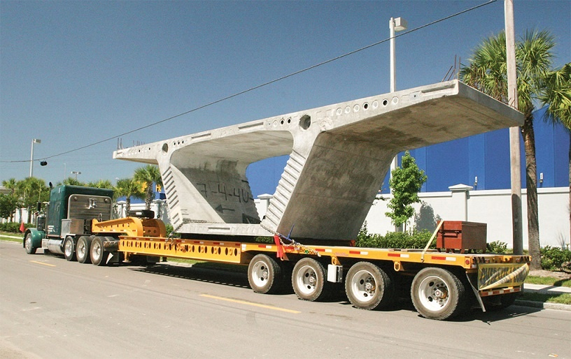 حملو نقل بار و محموله های سنگین با تریلی کمرشکن