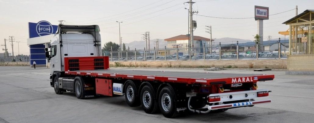 حمل و نقل انواع بار با استفاده از تریلی کفی